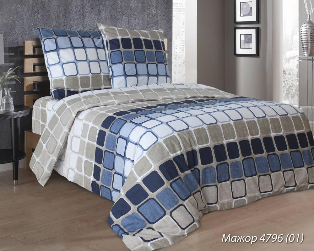 Комплект постельного белья евро Мажор (нав. 70*70)