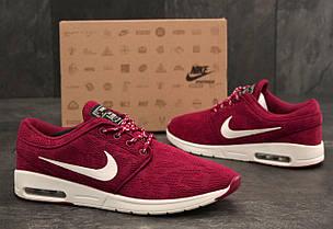 Кроссовки мужские Nike Stefan Janoski бордовые топ реплика , фото 2