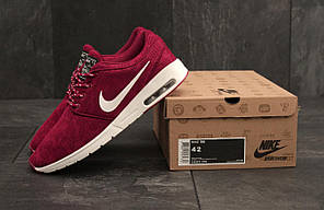 Кроссовки мужские Nike Stefan Janoski бордовые топ реплика , фото 3