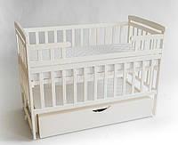 Детская кроватка-трансформер с ящиком DeSon DS1-02 (ваниль)