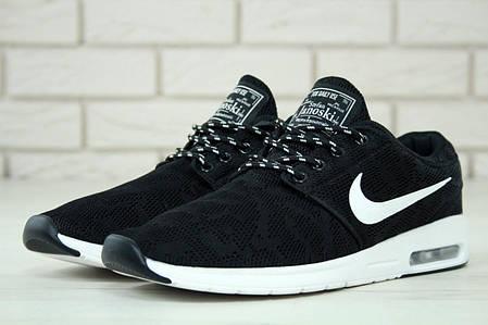 Кроссовки мужские Nike Stefan Janoski черные топ реплика , фото 2