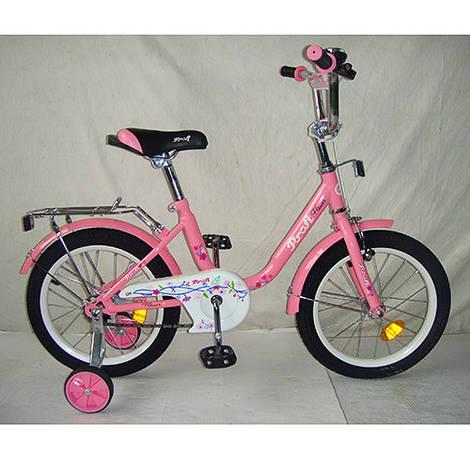 Велосипед детский PROF1 16д. L1681 (1шт) Flower, розовый,зеркало,звонок,доп.колеса