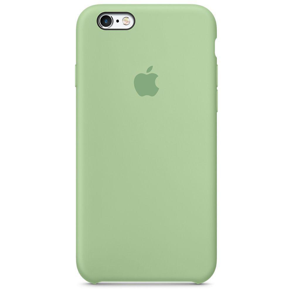 Чехол накладка Silicone Case для iPhone 6/6s - Mint