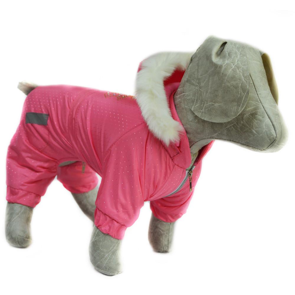 Комбинезон для собак Сильвер розовый