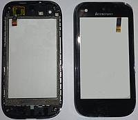 Сенсорний екран для смартфону Lenovo S760, тачскрін чорний