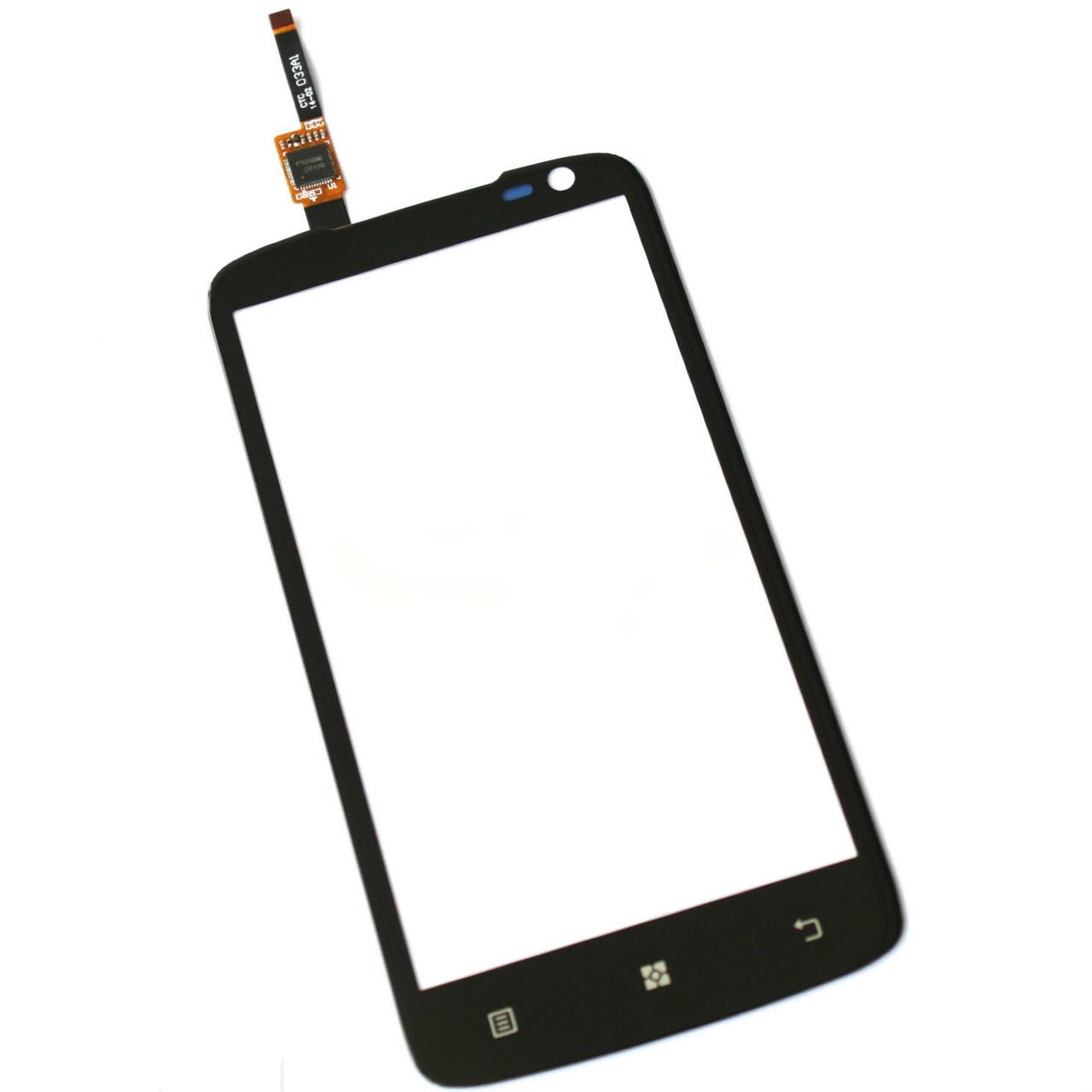 Сенсорний екран для смартфону Lenovo S820, тачскрін чорний