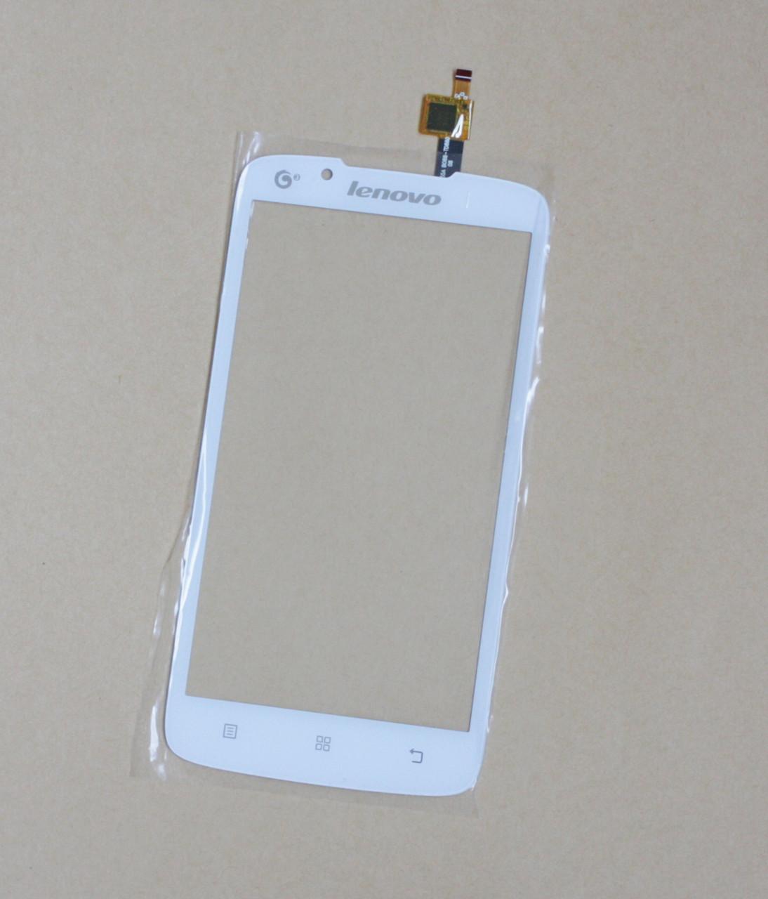 Сенсорний екран для смартфону Lenovo A388, тачскрін білий