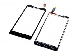 Сенсорний екран для смартфону Lenovo A656, A766, тачскрін чорний