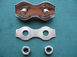 Нержавеющий двойной зажим для троса DUPLEX, А4(AISI 316)., фото 4