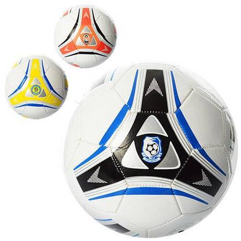 Мяч футбольный EV 3174 (50шт) размер 5, ПВХ, 2 слоя, 300-320гр, 3 вида, в кульке