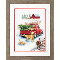 Набор для вышивания крестом Winter Ride/Зимняя прогулка DIMENSIONS 70-08971