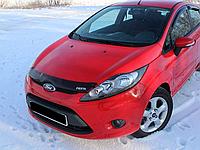 Дефлектор капота (мухобойка) Ford Fiesta VII (Форд фиеста 7 2008+)