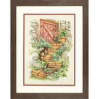 Набор для вышивания крестом Садовые ступеньки/Garden Steps DIMENSIONS 70-35362