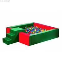 Сухой бассейн с горкой 150-150-40 см