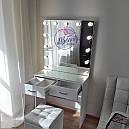 Элегантный стол визажиста с большим зеркалом, белый, фото 2