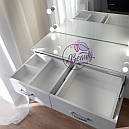 Элегантный стол визажиста с большим зеркалом, белый, фото 3