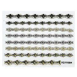 KATTi Наклейки клейкие Metalic YGYY 684 черн/золот, фото 2