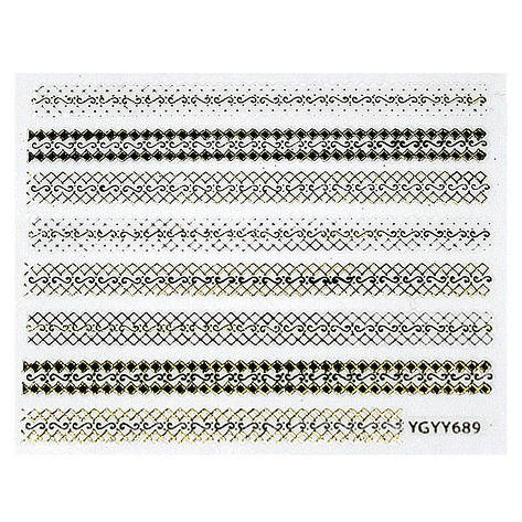 KATTi Наклейки клейкие Metalic YGYY 689 черн/золот, фото 2