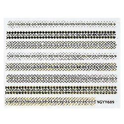 KATTi Наклейки клейкие Metalic YGYY 689 черн/золот