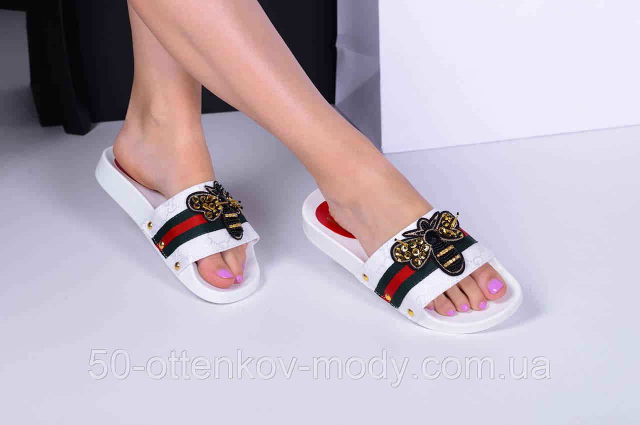 46d2f1ea6 Женские шлепки Gucci пчела белые черные: продажа, цена в Одессе ...