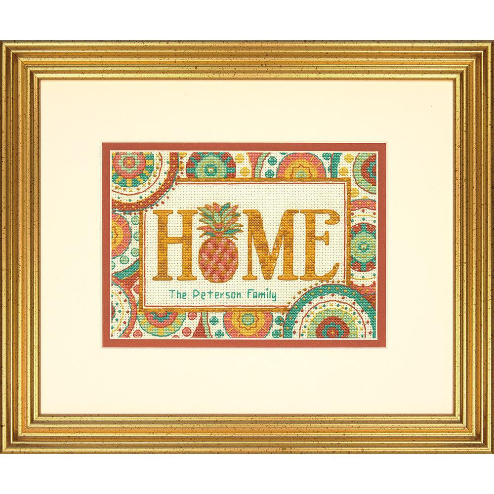 Набор для вышивания крестом Ананасовый дом/Pineapple Home DIMENSIONS 70-65179