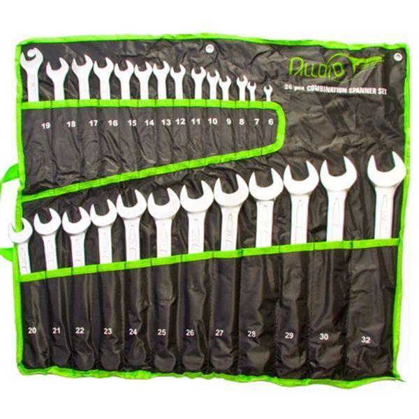 Набор ключей комбинированных, 26 предметов, 6-32 мм. (НК-2061-26 ALLOID)