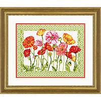 Набор для вышивания крестом Маки/Poppy Pattern DIMENSIONS 70-35350
