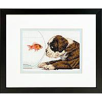 Набор для вышивания крестом Собачья миска/Dog Bowl DIMENSIONS 70-65169