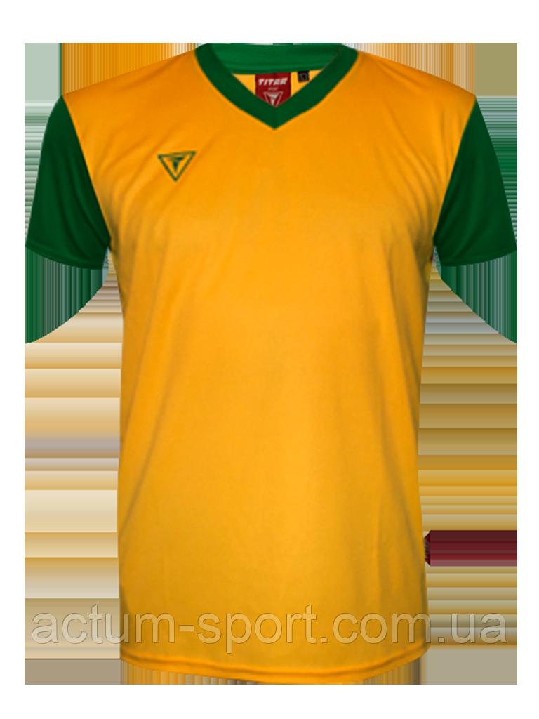 Футболка игровая Universal color Titar Желто/зеленый, XXL