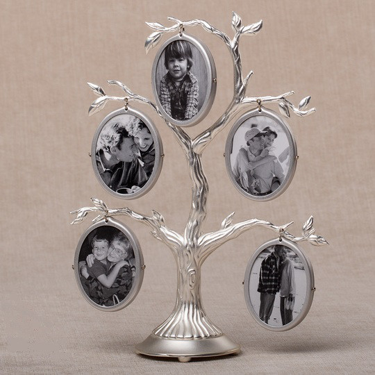 Серебряное родовое дерево на 10 фотографий