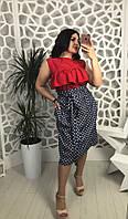 Стильная женская юбка, размеры 48-50, 50-52 МБ-1805.013