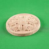 Мебельная накладка Розетка круглая. Код Р40, фото 2