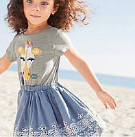 Летний костюм 2 в 1 для девочки Giraffe. Размер 2 года, 3 года, 4 года, 6 лет, 7 лет