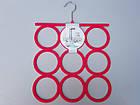 Плечики вешалки флокированные (бархатные) для аксессуаров цвета фуксии