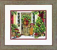 Набор для вышивания крестом Home for the Holidays/Праздничный дом DIMENSIONS 70-08961