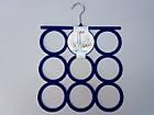 Плечики вешалки флокированные (бархатные) для аксессуаров синего цвета