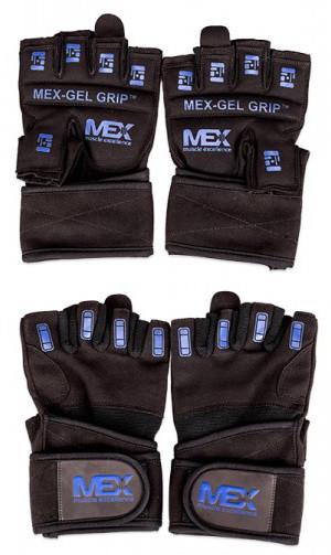 MEX Nutrition Gel Grip Gloves blue