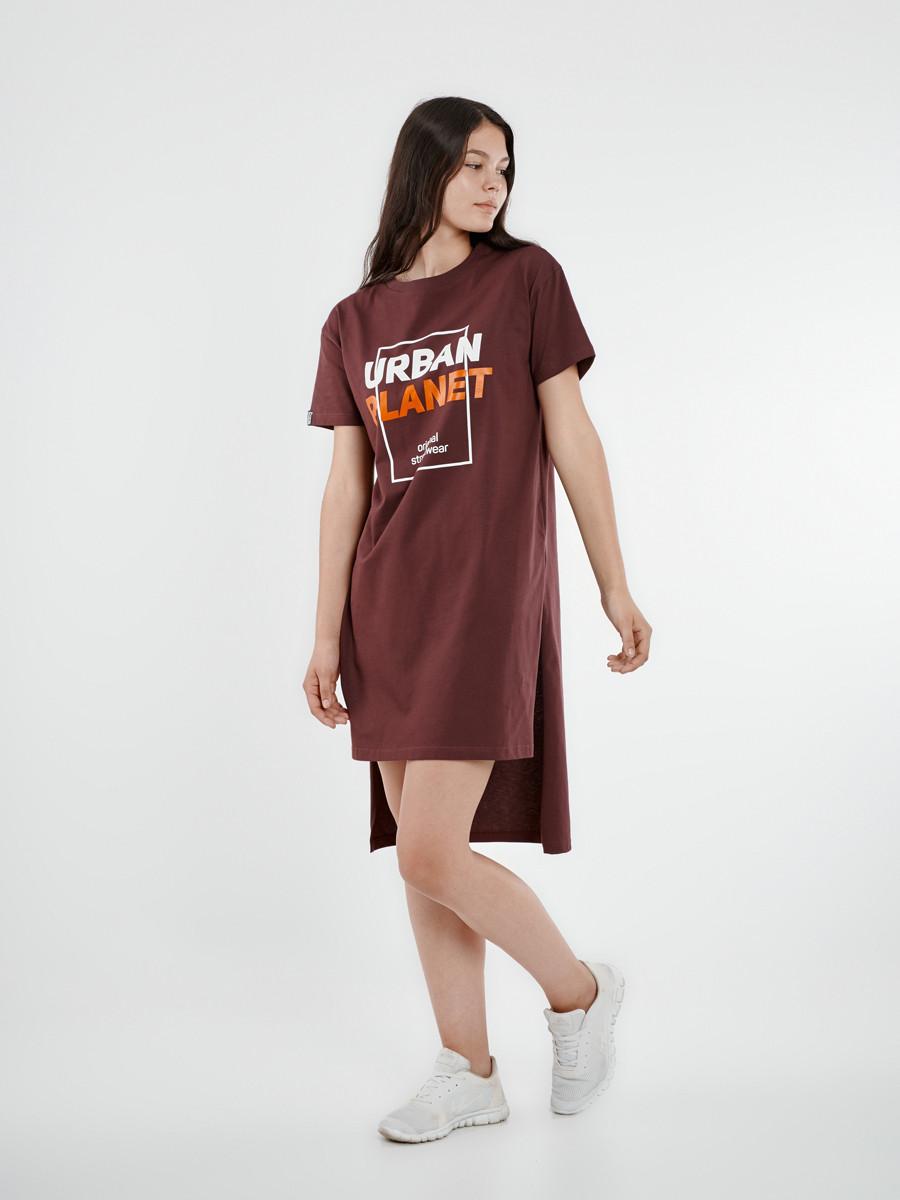 a22d5ca3a68 Женская длинная футболка - туника Urban Planet ORIGINAL TUN WINE -