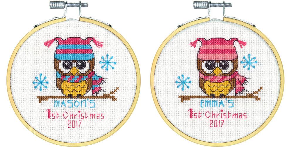 Набор для вышивания крестом Baby's First Christmas/Первое Рождество DIMENSIONS 70-08965