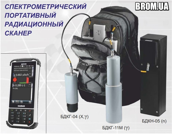 Переносной Дозиметр Спектрометр МКС-АТ6101С АТОМТЕХ