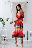 Летнее женское платье с открытыми плечами, фото 3