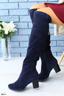 Женские демисезонные ботфорты на каблуке