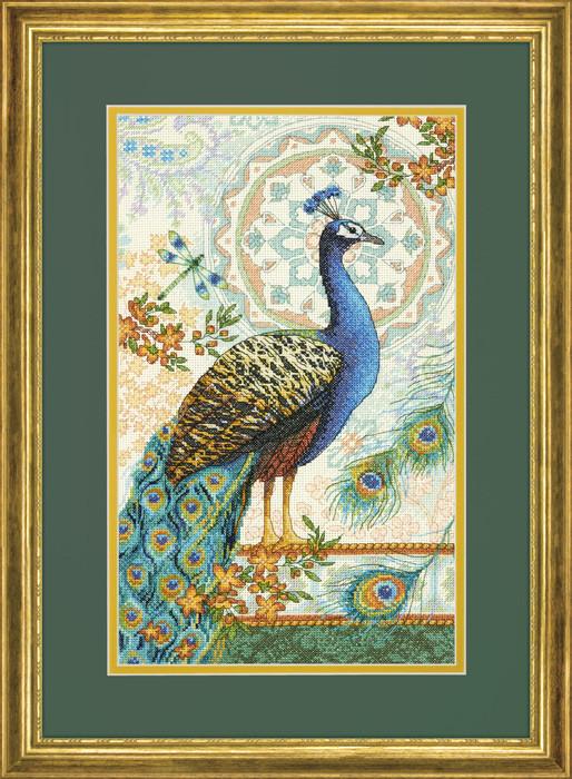 Набор для вышивания крестом Royal Peacock/Королевский павлин DIMENSIONS 70-35339