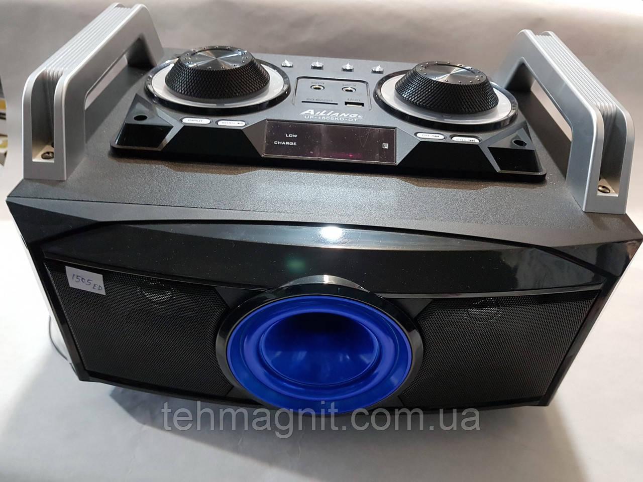 Портативный бумбокс караоке Ailiang UF-1505KD-DT сабвуфер USB\ Bluetooth\ FM-тюнер\ Пульт ДУ ( Реплика )