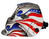 Сварочная маска хамелеон OPTECH S777 SilverFlag ( 2 сенсора ), фото 2
