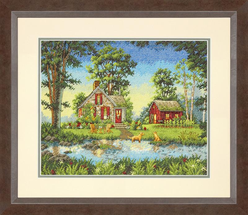 Набор для вышивания крестом Summer Cottage/Летний коттедж DIMENSIONS 70-35340