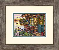 Набор для вышивания крестом Cabin View/Домик с видом DIMENSIONS 70-65161