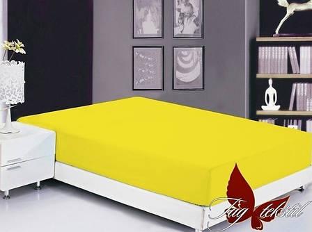Желтая простынь полуторная 150х220 разные цвета , фото 2