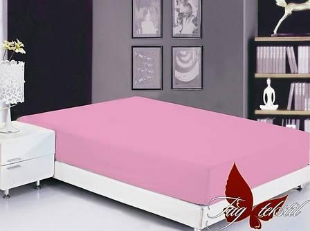 Розовая простынь полуторная 150х220 разные цвета , фото 2