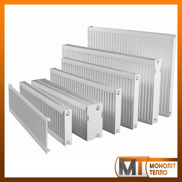 Радиатор стальной 300х1600 мм 1883Вт с боковым подключением ROMSTAL (тип 22)